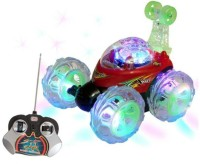VW Angry Bird Rechargeable Remote Controlled Stunt Car With Led Lights (Red)