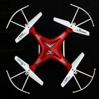General AUX HOTT 4 Ch Drone Rc Quadcopter 6 Axis Gyro 3d 360 Flip Ufo One Key Return Quadcopter Drone Maroon (Red, Blue)