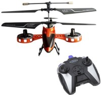 Meher Enterprises 4 Channel Rc Fighter Helicopter (Red, Orange)