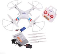 Emob 4 Channel 2.4G RC Quadcopter With 2MP Wide Angle HD Camera 6 Axis Professional Drone (White) (Multicolor)