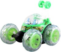 Wewholeseller Remote Control Stunt Car (Green, White)