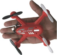 AdraxX X6 Gyro Stabilized Red Micro RC Quadcopter Drone Indoor And Outdoor (Red)