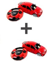 ECO SHOPEE COMBO OF JACKMEAN RED + RED RECHARGABLE CAR WITH STEARING (Red)