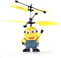 TOYBAZAAR Minions BOB Flying Helicopter With Induction Operation Toy [Multicolour] (Multicolour)