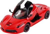 TOYBAZAAR Ferrari R-C Style 1:16 Scale Rechargeable Radio Control Toy With Door Open [Red] (Red)