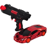 Venus-Planet Of Toys Red Remote Control Car With Water Bullet Gun For 4-6 Years (Multicolor)