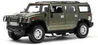 AdraxX 1/24 Scale Die Cast Hummer SUV RC Car Model Toy (Green)
