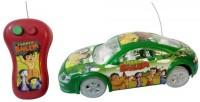 Zaprap Remote Control Chota Bheem Car For Kids (green)