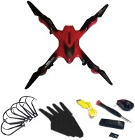 Emob 6 Axis Gyro Drone With A Key Return Headless Mode Quadcopter With HD Camera-Red (Multicolor)