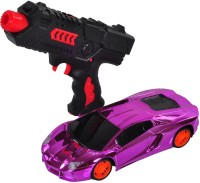 Venus-Planet Of Toys Purple Remote Control Car With Water Bullet Gun For 4-6 Years (Multicolor)