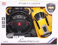 VENUS-PLANET OF TOYS Remote Control Rechargeable Gravity Sensor R/C Toy Car With Steering & W/CHARGER (YELLOW)