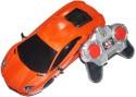 AdraxX Remote Control Sports Car Model With Headlights - Orange