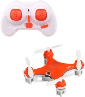 Toys Bhoomi World's Smallest RC Nano Quadcopter 4CH 2.4GHz 6-Axis Gyro LED (Orange)