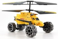 The Flyer's Bay Warship 2.0 Helicopter Cum Car With Air Flight, Landslide, Fire Missiles (Multicolor)
