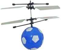 Happy Football Match Super Air Vehicle Flying Football Ball Hovering Control Fun Toy Floating Above Hand Like Helicopter (Blue)