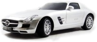 The Flyer's Bay Licenced RC Mercedes-Benz SLS AMG 1:24 Scale Full Function With Shock Absorber And LED Lights (Silver) (Multicolor)