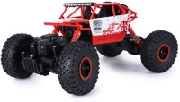 Wishkey Rock Crawler Remote Control 4 Wheel Drive Rally Red Car (Red)