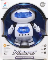 S S TRADERS Dancing Robot With LED Light Music Toy (White, Blue)