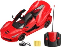 FLIPZON RC Ferrari Style Rechargeable Car 1:16 With Opening Doors And Dicky (Red)