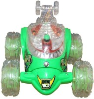 Zaprap Green Plastic Ben 10 Magic Remote Control Car For Kids (green)