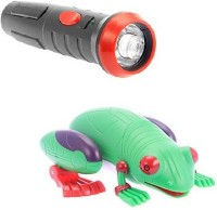 Innovation Infrared Rc Controlled Simulation Forest Frog With Torch Like Remote (Green)