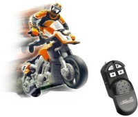 Toys Bhoomi RC Mini Stunt MotorBike - Extreme Stunts (Orange)