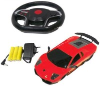 A M ENTERPRISES Red Gravity Sensing Rechargeable Remote Control Car (Red)