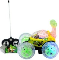 ToysBuggy Ben10 Remote Controlled Stunt Car (Yellow)