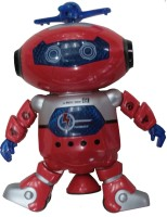Adraxx 360 Degree Dancing Robot With Light And Music (Red)