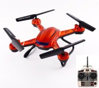 Toys Bhoomi RC Quadcopter Helicopter Ready To Fly Headless Drone With One Key Return Mode - 300M Estimated Flying Range ( Non Camera Version ) (Orange)