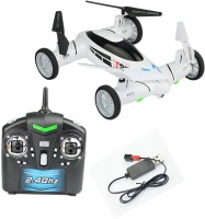 Emob Space Explorer (2 In 1) 4 Channel Air & Ground Explorer Remote Control Flying Car Quadcopter Drone With Camera (Multicolor)