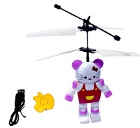 Blossoms Hello Kitty Aircraft Flying Induction Control Toy Gift (White)