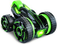 Wishkey Super Fast 5 Wheeled Radio Control Racing Stunt Car With Lights (Green)