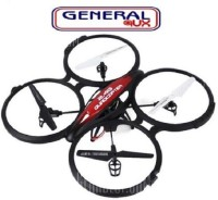 General AUX HOTT 2.4GHz 4CH RC Quadcopter 6 Axis Gyro UFO 360 FLIP 1.0MP HD Camera (Black)