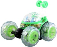 A R Enterprises Ben 10 Rechargeable Remote Control Stunt Car (Green)