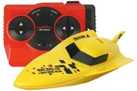 Adraxx High Speed RC Racing Torpedo Boat Toy Ship Electric For Kids (Yellow)