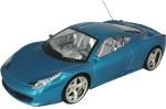 AdraxX Remote Control Toys AdraxX 1:18 Scale Sports RC Blue Car Toy