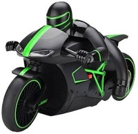 The Flyer's Bay Professional High Speed 2.4 GHz RC Motorcycle Bike With Built In Gyroscope & Bright LED Headlights ( Best Operated In Larger Area) (Green) (Multicolor)