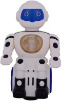 RREnterprizes Battery Operated Robot With Light & Music Toy For Kids (White)