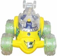 Zaprap Remote Control Ben 10 Stunt Car Rechargable Car (Yellow)