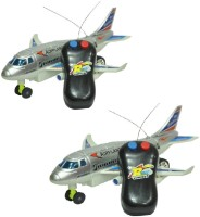 New Pinch Remote Control Toy Plane (Running, Not Flying) Pack Of 2 (Multicolor)