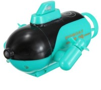Adraxx Mini RC Racing Submarine Boat Remote Control Toys With 40MHz Transmitter (Green)