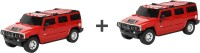 ECO SHOPEE COMBO OF REMOTE CONTROL 1:24 RED + RED HUMMER CAR TOY FOR KIDS (Red)