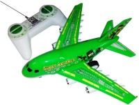 Reyhawk New 3D Ben 10 Radio Control Aerobus With Light & Sound (Green)