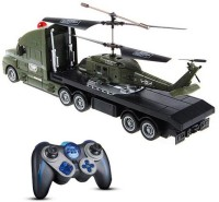 Taaza Garam 2 In 1 Helicopter & Truck Remote Control Toy (Olive, Black)