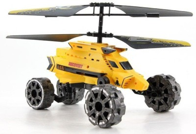 The Flyer's Bay Warship Helicopter Cum Car With Air Flight, Landslide, Fire Missiles (Multicolor)