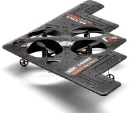 Toyzstation RC Quadcopter Stealth Bomber With 3-Axis (Black)