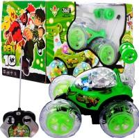 Per Te Solo Ben 10 Rmote Control Stunt Car (Green)