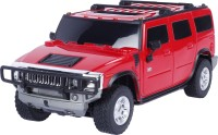 Toyhouse Radio Remote Control 1:24 Hummer H2 SUV RC Scale Model Car (Red)