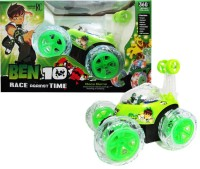 Anukriti Creations 360 Degree High Quality Ben 10 Stunt Car (Green)